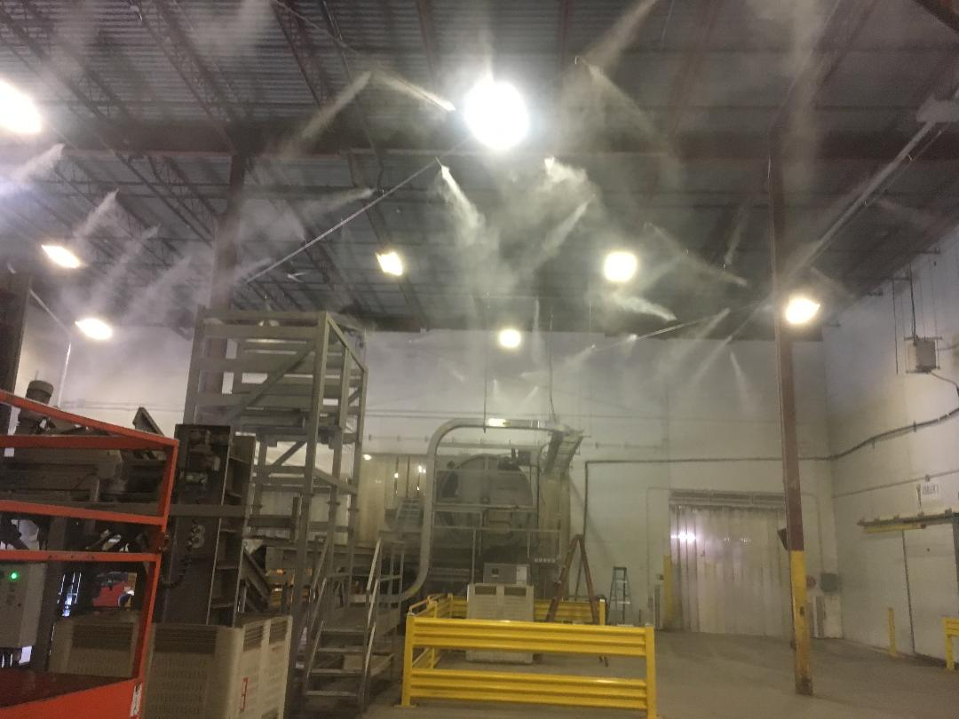 High-Pressure Stainless-Steel Misting System